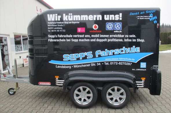 Unser Anhänger- Sepp's Fahrschule